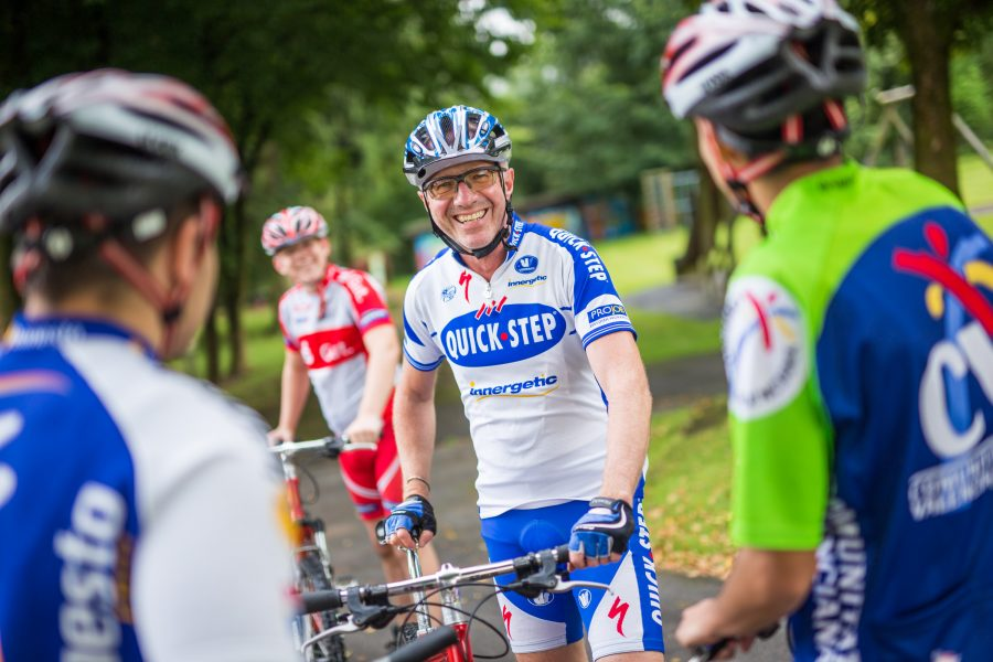 Herr Dörffler bei einer Fahrradtour