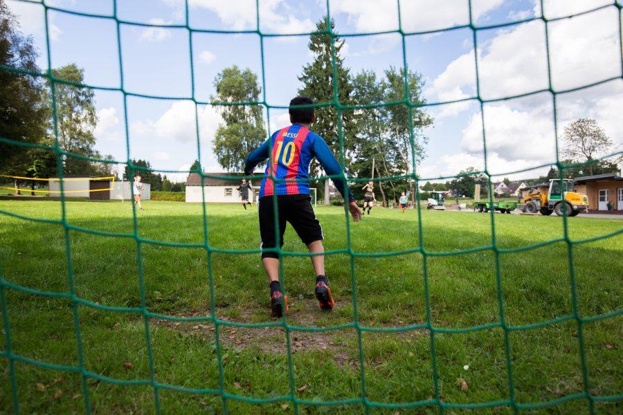Torhüter beim Fußball